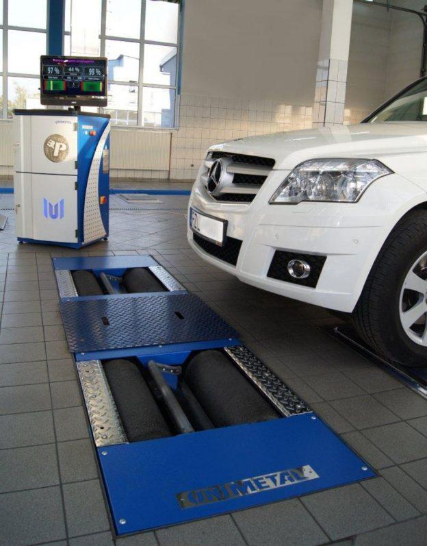 Stabdžių ir važiuoklės tikrinimo įranga